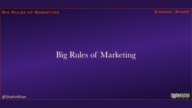 """Big Rules of Marketing"" Presentation on SlideShare"