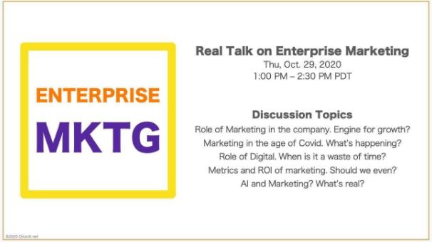 Real Talk on Enterprise Marketing Meetup
