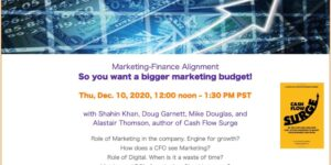 Marketing-Finance Alignment: So you want a bigger marketing budget!